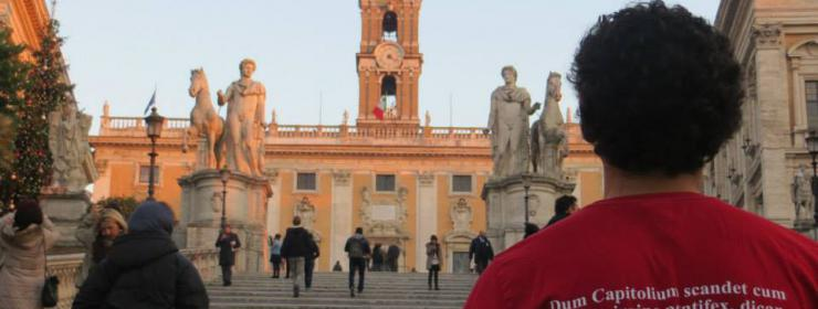 D. Delgado wearing his Classics tshirt at Capitoline, Summer 2014