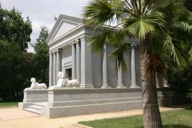 Photograph of the mausoleum at Stanford University