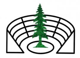 Logo of redwood tree and Greek theatre